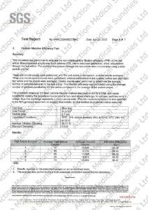 香港口罩- SGS-PFE Synthetic Blood Penetration Flammability test report